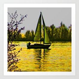 Delta sailing Art Print