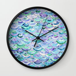 Marble Mosaic in Sapphire and Emerald Wall Clock