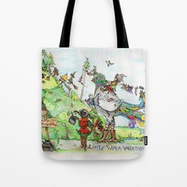 Little Witch Vacation Tote Bag