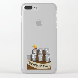 Drumpfster Tower Clear iPhone Case