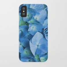 Blue Hydrangea Slim Case iPhone X