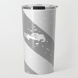 Town Silhouette Grey Grunge Travel Mug