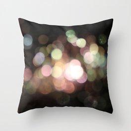 Bubbly Bokeh Throw Pillow