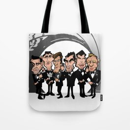 Faces of Bond Tote Bag