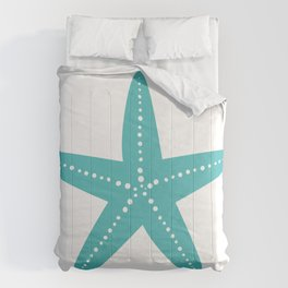 Starfish (Teal & White) Comforters