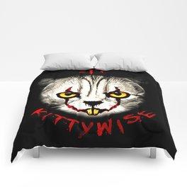cat clown kittywise vector art Comforters