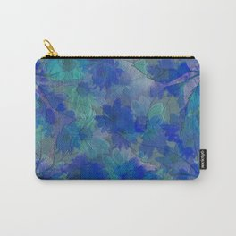 Painterly Midnight Flower Abstract Carry-All Pouch