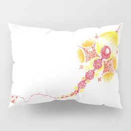 Abstract kite - Red and yellow Pillow Sham