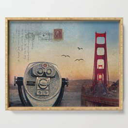 GOLDEN GATE RAIN - San Francisco Serving Tray