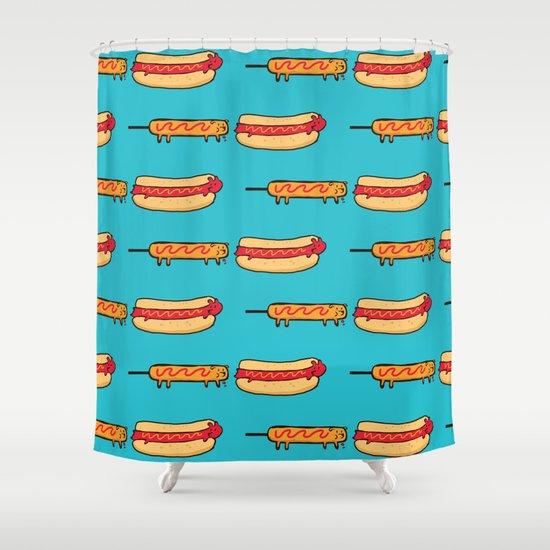 Dog Eat Dog World Shower Curtain