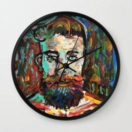 Sam con La Barba Wall Clock