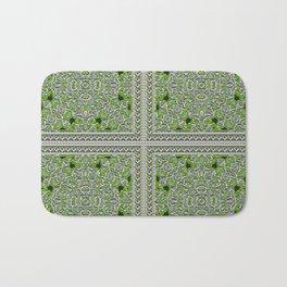 Green Crystal Tiles Bath Mat