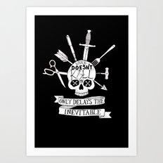 What Doesn't Kill Me - Black Art Print