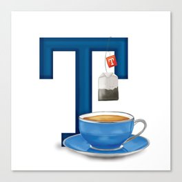 T is for Tea Canvas Print