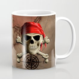The Jolly Roger Pirate Map Coffee Mug