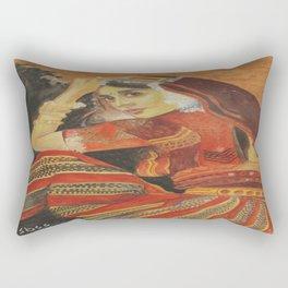 Indian Girl Rectangular Pillow