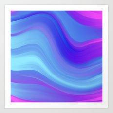 Relax Wave Art Print