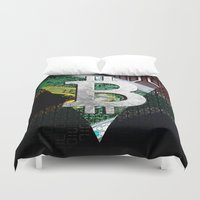 south africa Duvet Covers featuring bitcoin South Africa by seb mcnulty