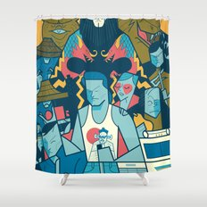 Big Trouble Shower Curtain