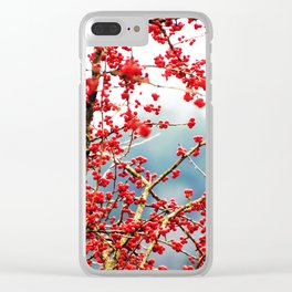 Hawthorn Tree Clear iPhone Case