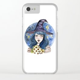 Cosmic Witch Clear iPhone Case