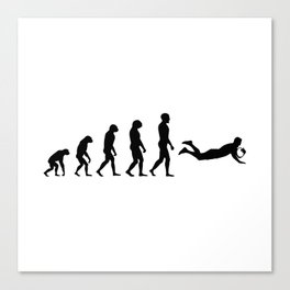 Evolution Rugby #4 - Try Canvas Print