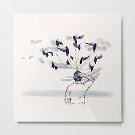 Brain Bugs Metal Print