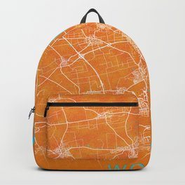 Worms, Germany, Gold, Blue, City, Map Backpack