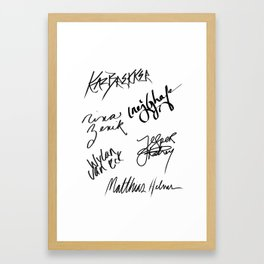 Six of Crows | The Crows Signatures Framed Art Print