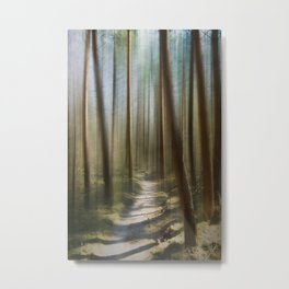 A Forest Abstract Metal Print