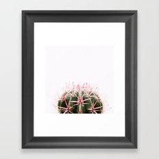 cactus red Framed Art Print