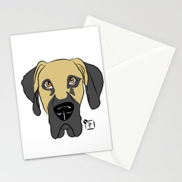 Faun Great Dane Face Stationery Cards