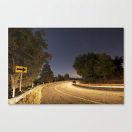 Light Trails and Star Gazing Canvas Print