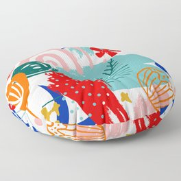 Spring Festival, Botanical, Floral Abstract Floor Pillow