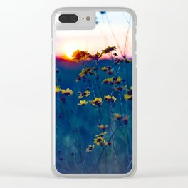 Wildflower Sunset Clear iPhone Case