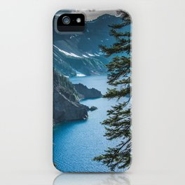 Blue Crater Lake Oregon in Summer iPhone Case
