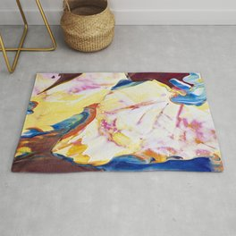 Abstraction - Piece of warm - by LiliFlore Rug