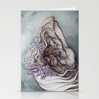 caitlin hackett Stationery Cards featuring The Mystic by Caitlin Hackett
