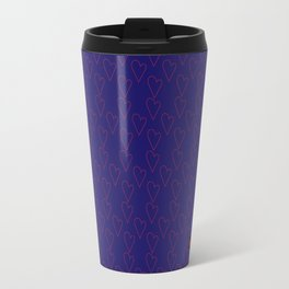 HEARTS ALL OVER #blue #red #heart minimal #art #design #kirovair #buyart #decor #home Travel Mug