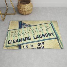 Unique Laundry Sign Rug
