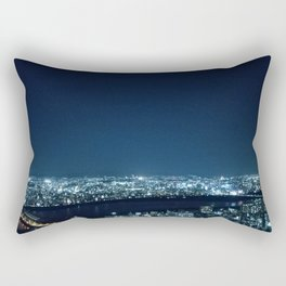 Blue Crystal City Rectangular Pillow