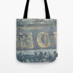 Warehouse District -- Rustic Country Chic Abstract with Letters Tote Bag