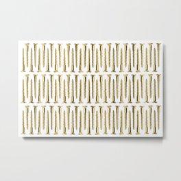 Golden Screws Texture Metal Print