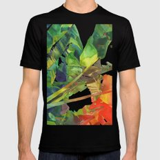 Bananas leaves Mens Fitted Tee SMALL Black