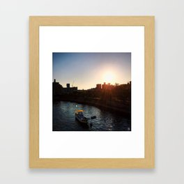 Hiroshima during Golden Hour Framed Art Print