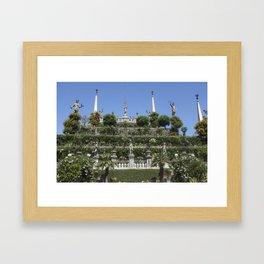 Gardens of Borromeo Palace on Isola Bella, Stresa,Italy. Framed Art Print