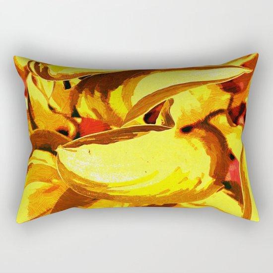 Sunset Foliage Abstract Rectangular Pillow