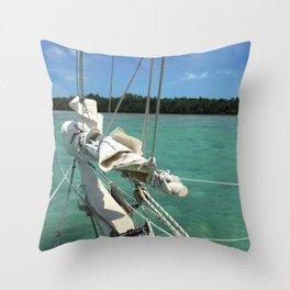Sailing Schooner Bowsprint Throw Pillow