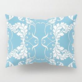 Blue Leaf Lace Pillow Sham
