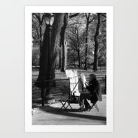 Artist In The Park Art Print